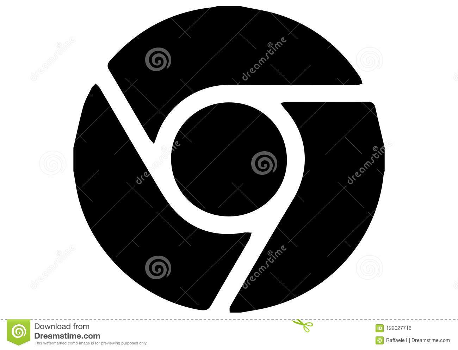 Google Chrome Icon Logo Editorial Photo Illustration Of Google