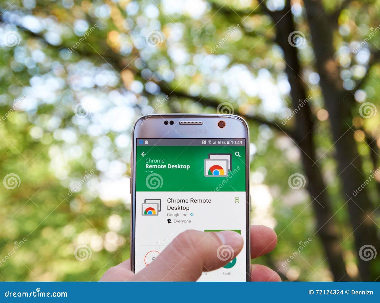 Google Chrome Remote Desktop App Editorial Stock Image