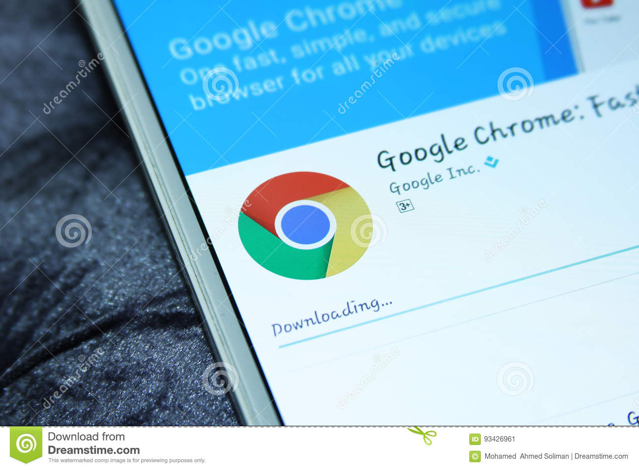 Google Chrome Web Browser Mobile App Editorial Photo - Image of