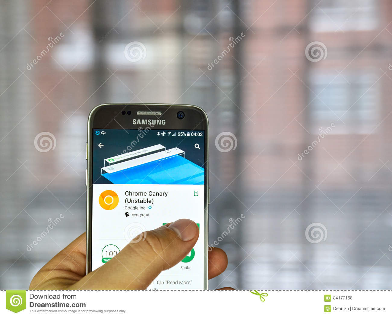 Google Crome Canary editorial stock photo  Image of build - 84177168
