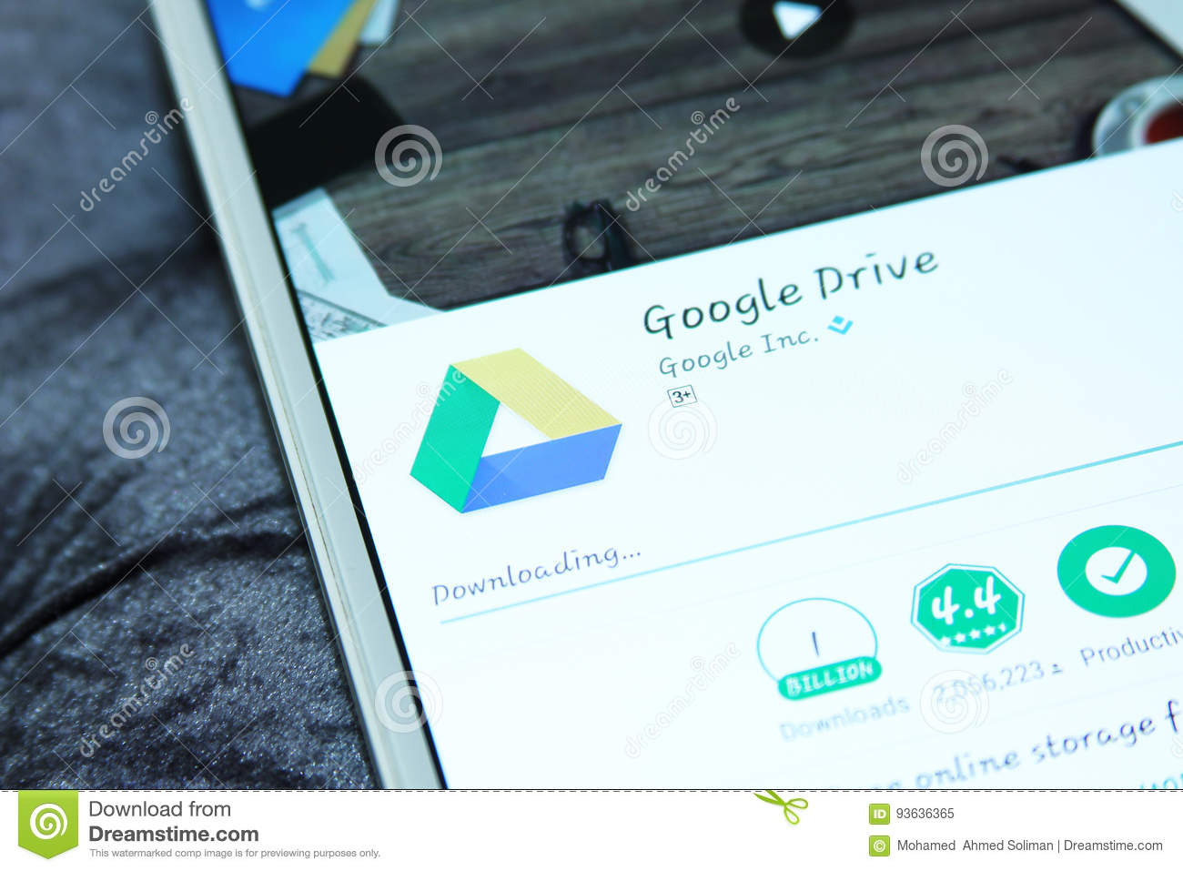 Google Drive Mobile App Editorial Image Image Of Tablet 93636365