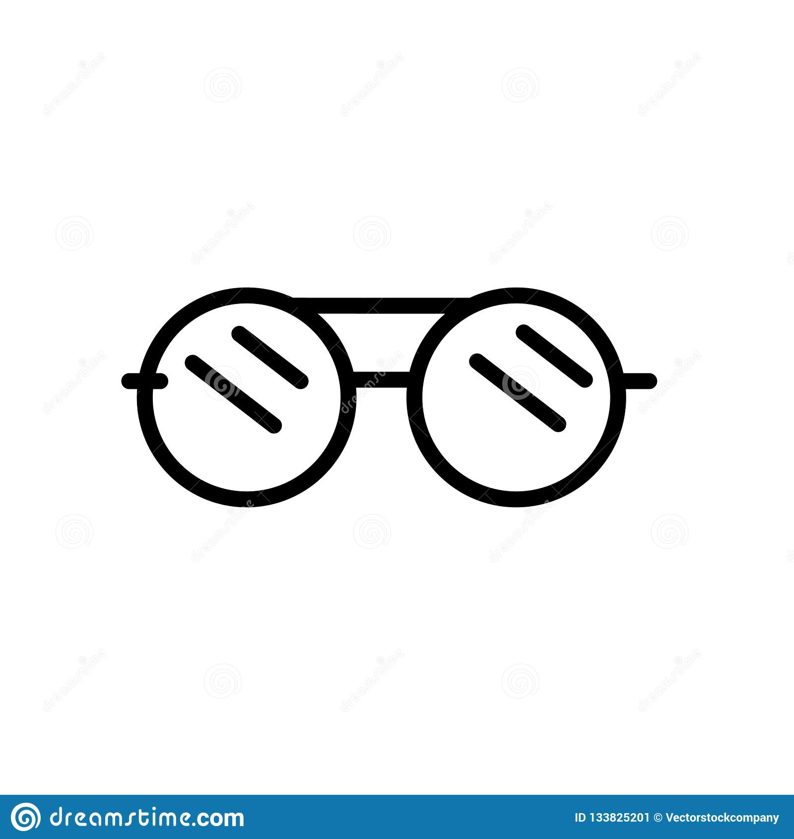 Google Glasses Icon Vector Isolated On White Background