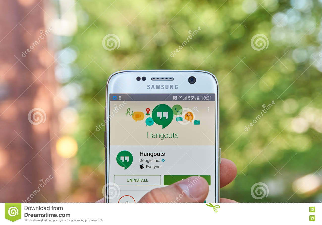 Google Hangouts app editorial image  Image of closeup - 72124145