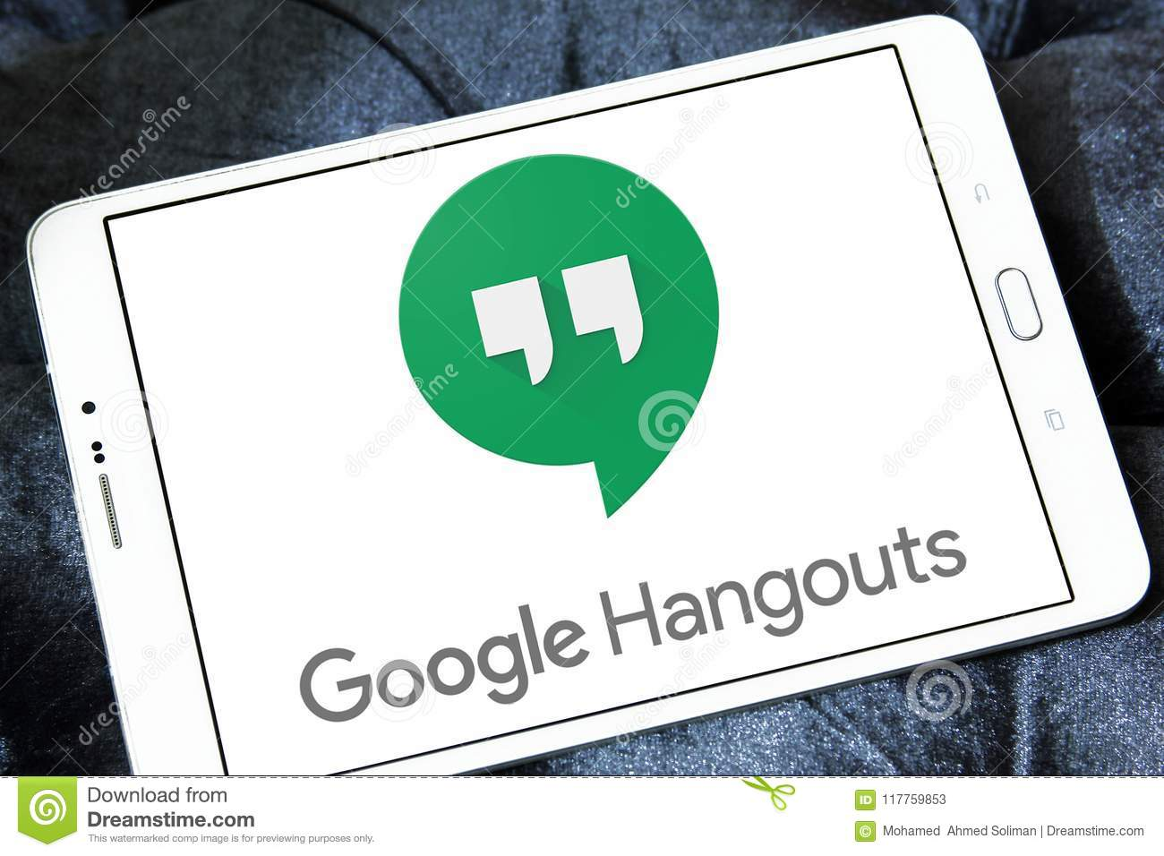 Google Hangouts logo editorial stock photo  Image of free - 117759853