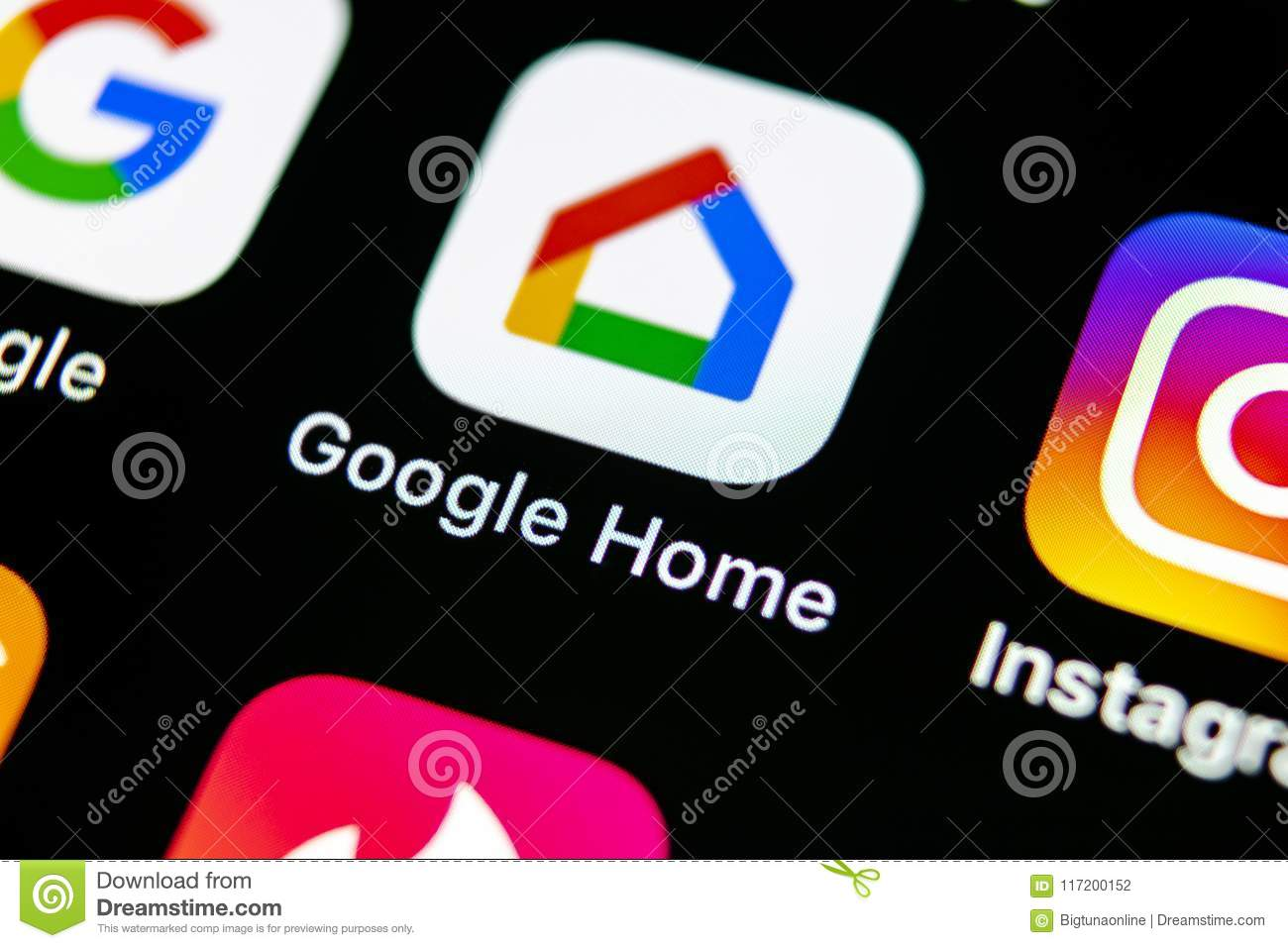 Google Home Application Icon On Apple IPhone X Smartphone