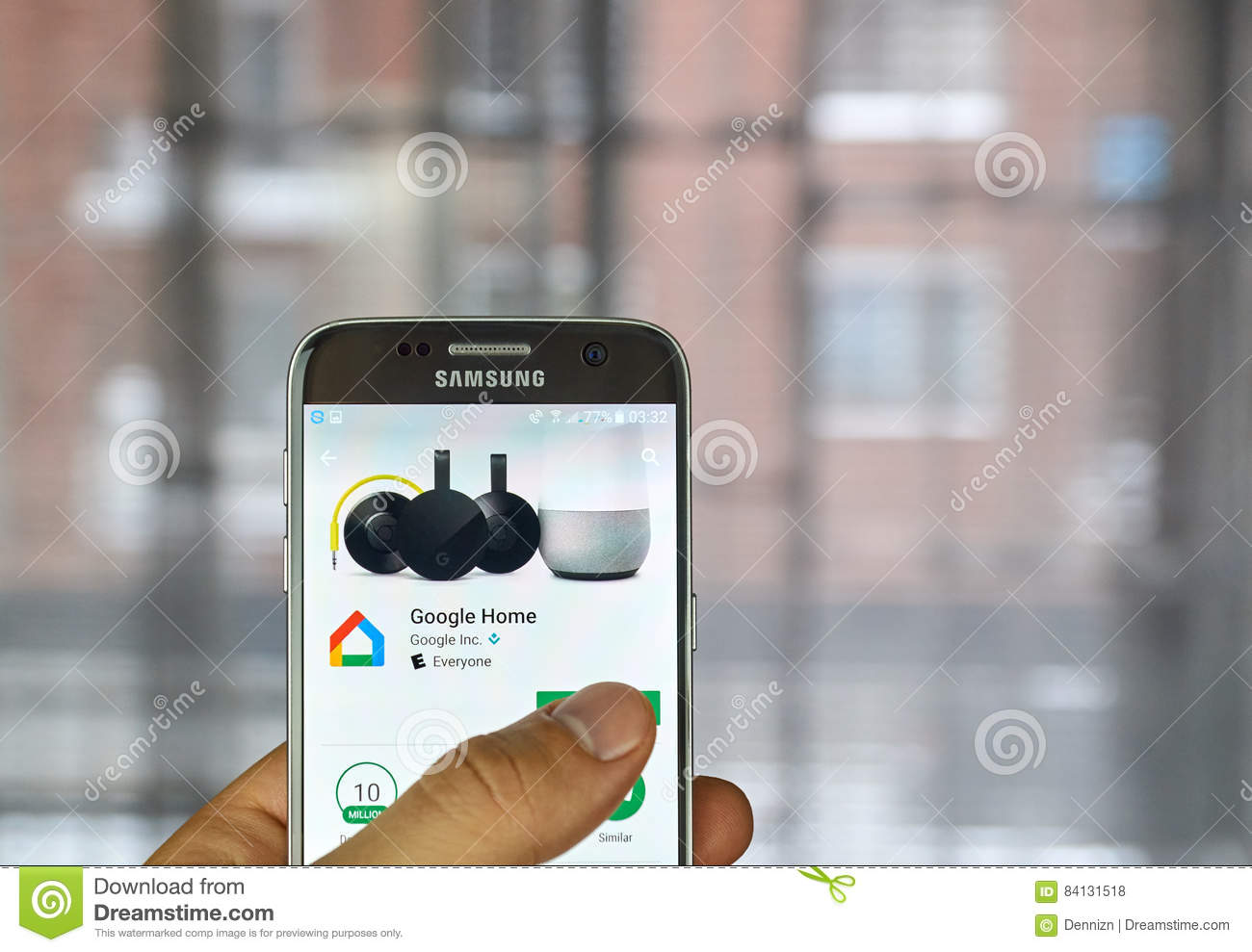 Google Home application editorial stock photo  Image of
