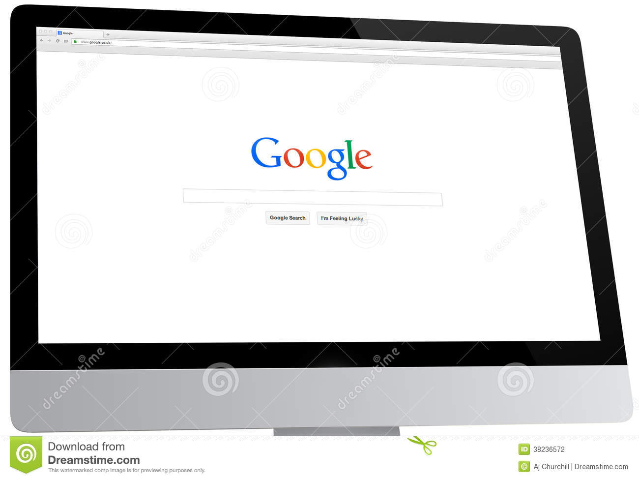 Google Homepage On A Desktop Computer Editorial Photography