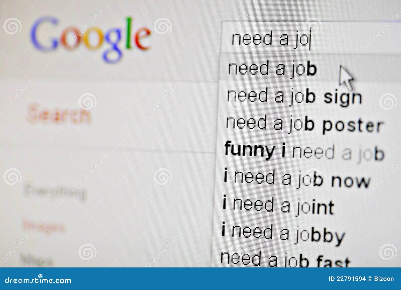 Google I Need A Job Editorial Stock Image Image