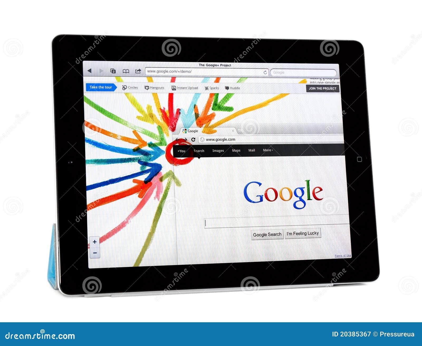 Google jabłczany projekt ipad2