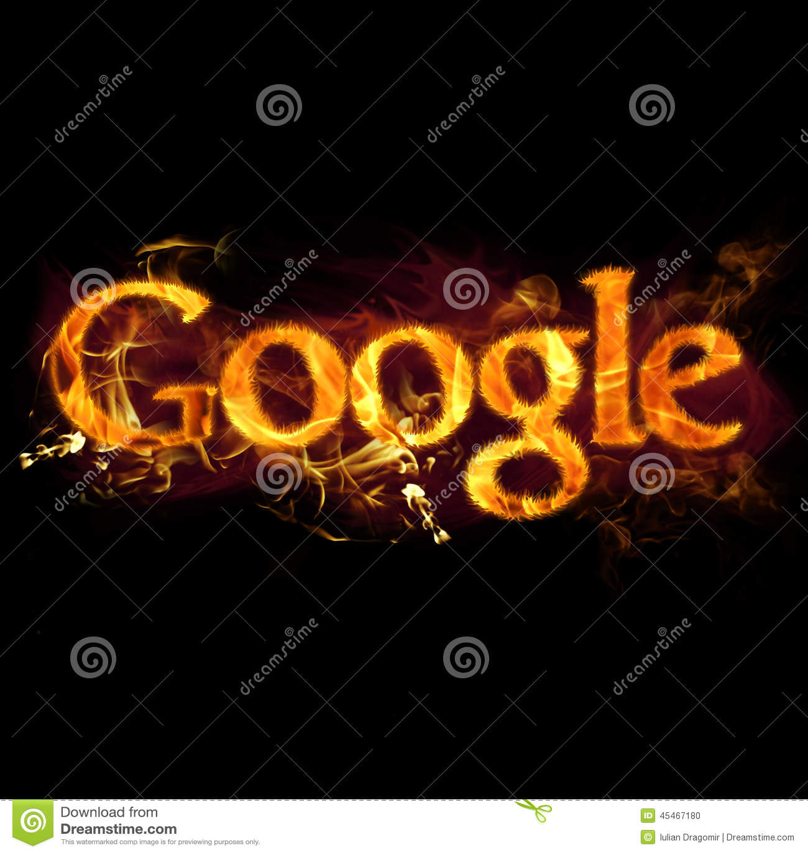 google on fire