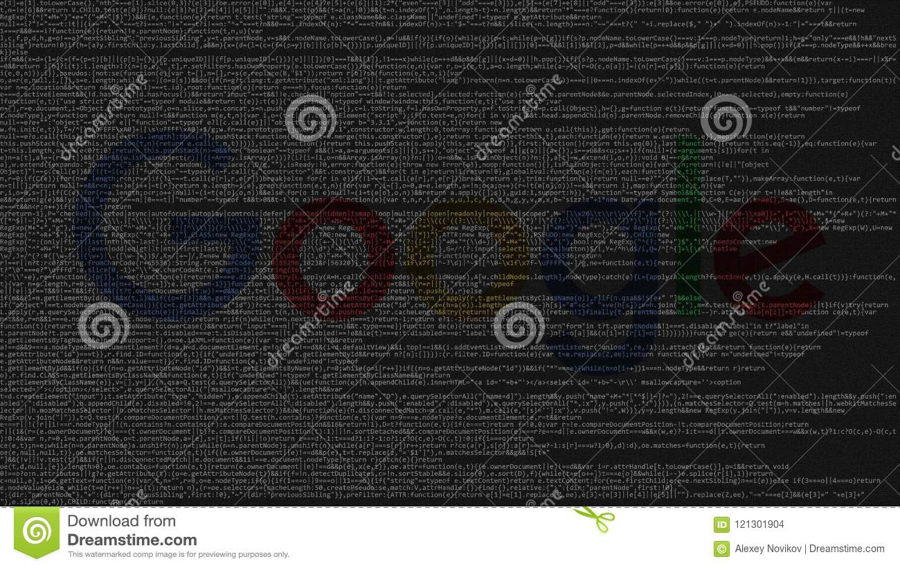 Google Logo Made Of Source Code On Computer Screen  Editorial 3D
