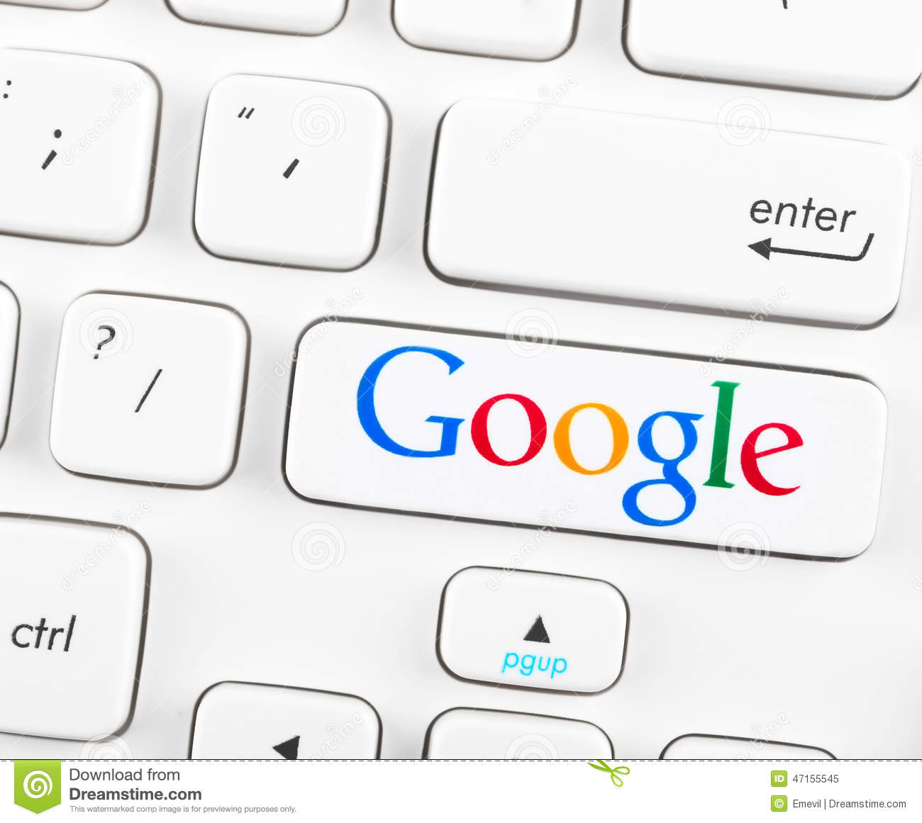 Google Logotype On A Keyboard Button Editorial Image - Image of
