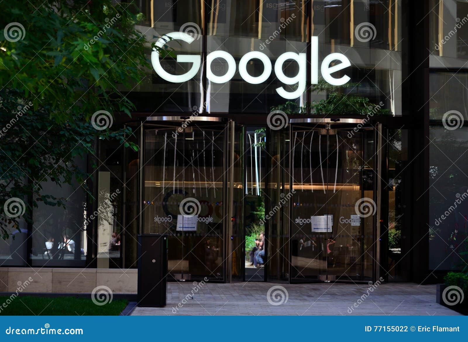 Google Hoofdkwartier Londen : Google londen redactionele fotografie. afbeelding bestaande uit