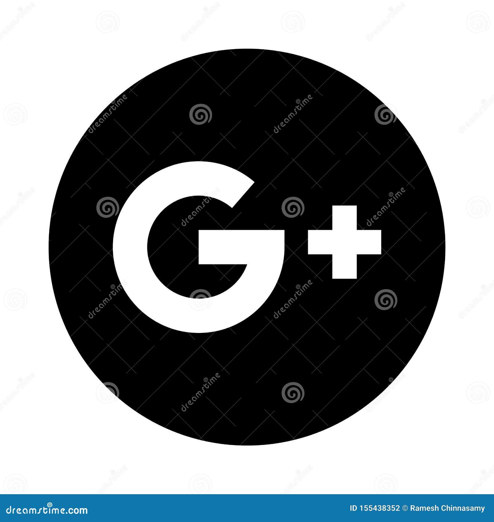 Google más el botón social del icono de los medios