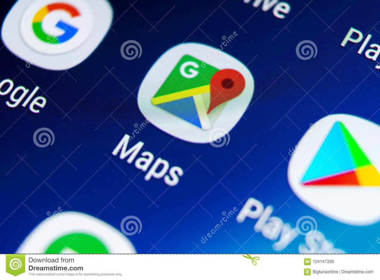 Google Maps Application Icon On Samsung Galaxy S9 Screen ... on google lightning map, google classic map, google kingston map, google solar system map, google pluto map, google venus map, google transit map, google sky map, google space map, google jupiter map, google explorer map, google universe map,