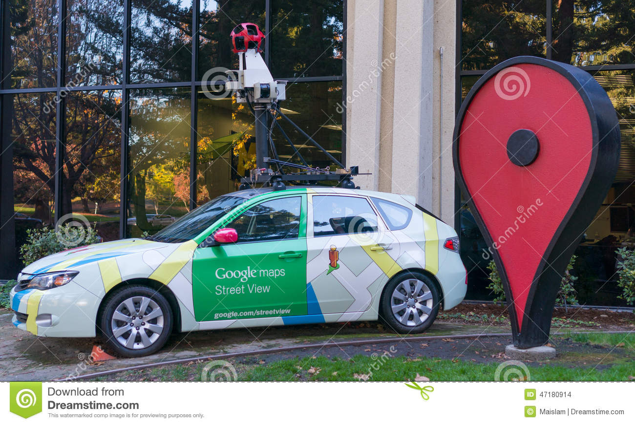 google maps street view car in front of google office editorial stock image image 47180914. Black Bedroom Furniture Sets. Home Design Ideas