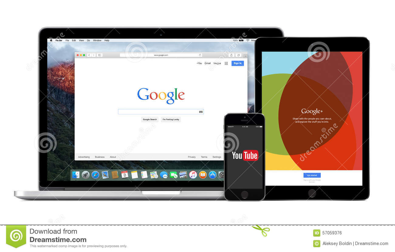 Google Multi Devices With Google Search YouTube And Google