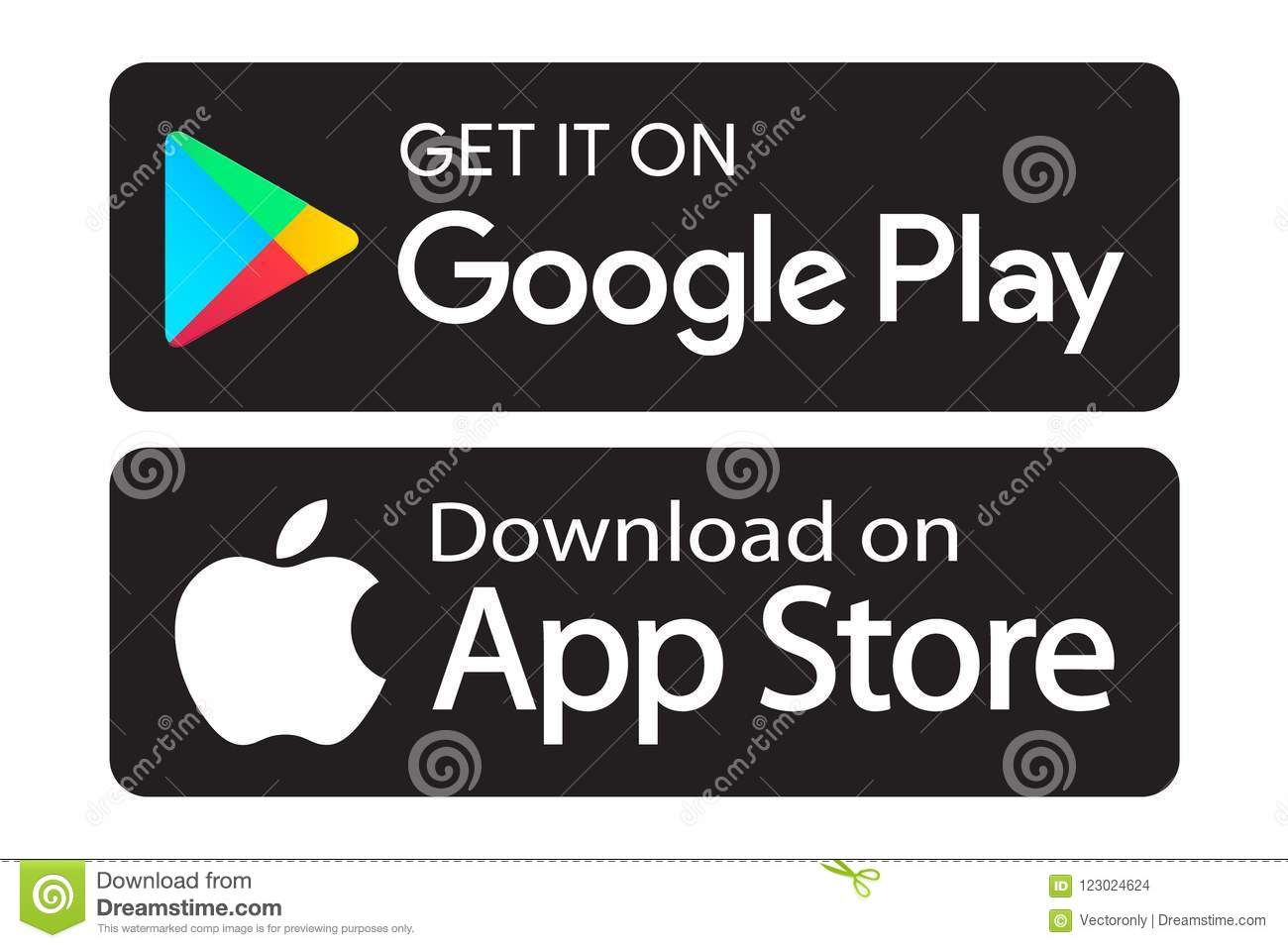Google Play App Store Icons Editorial Stock Image
