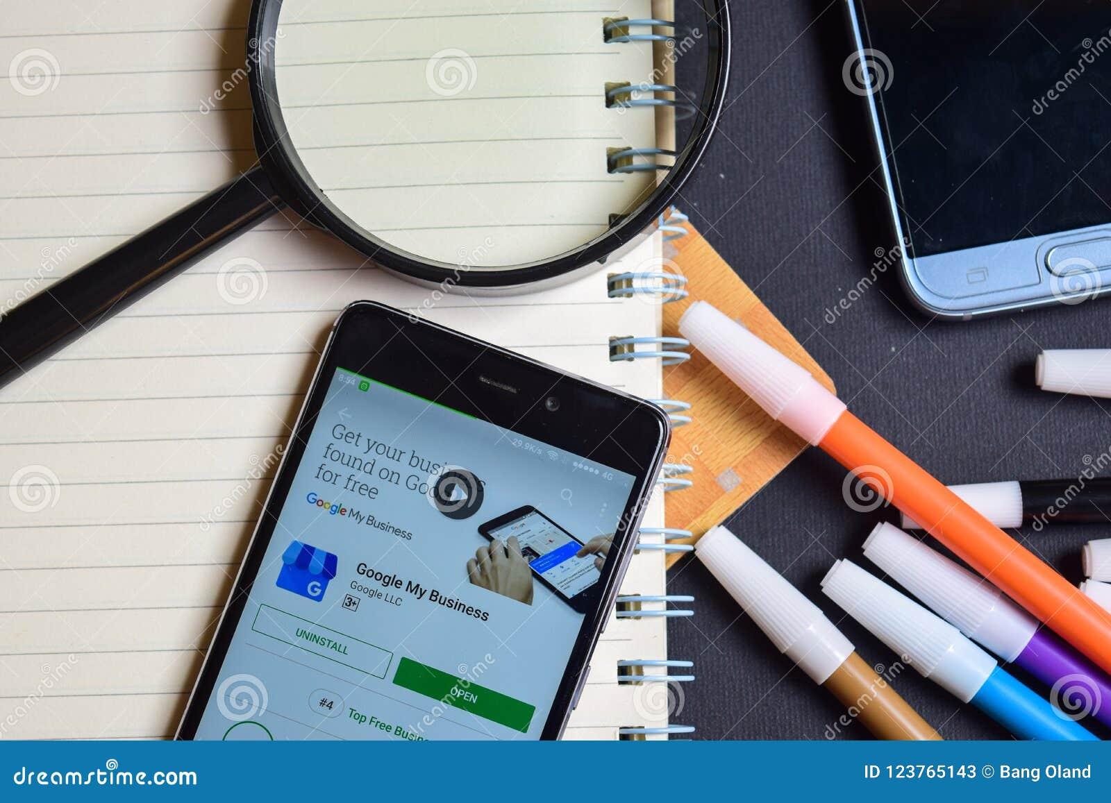 Google Play Books App On Smartphone ScreenGoogle My Business App On