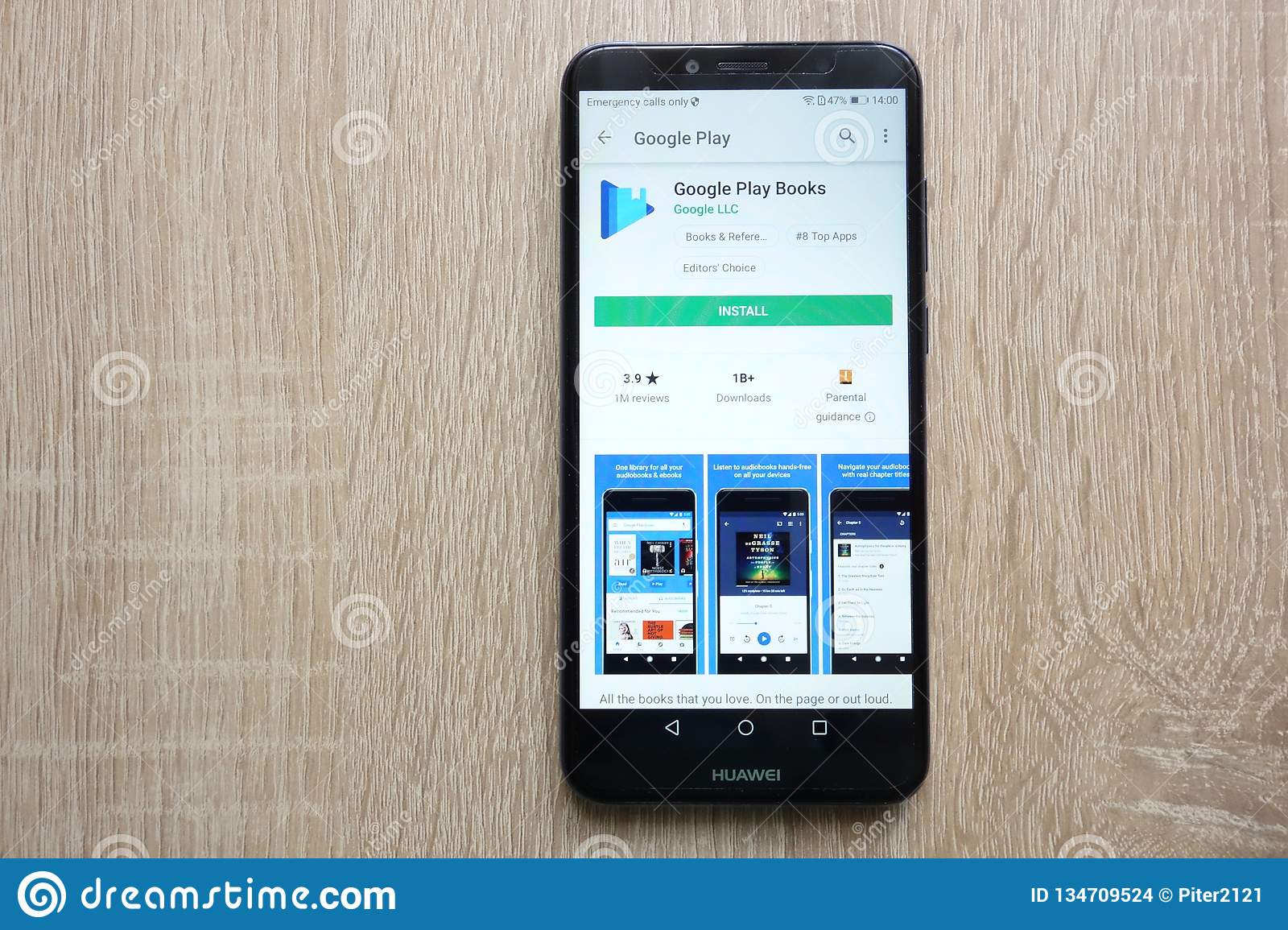 Google Play Books App On Google Play Store Website Displayed On