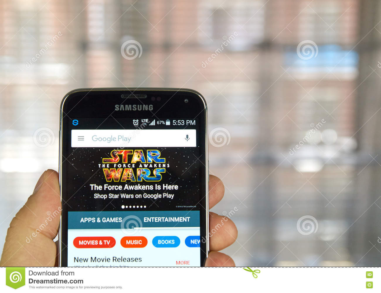 Google Play Entertainment editorial stock image  Image of
