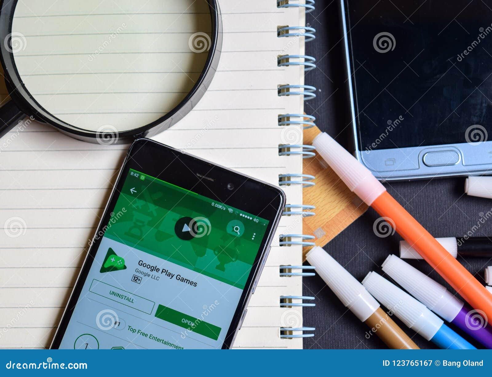 Google Play Games App On Smartphone Screen  Editorial