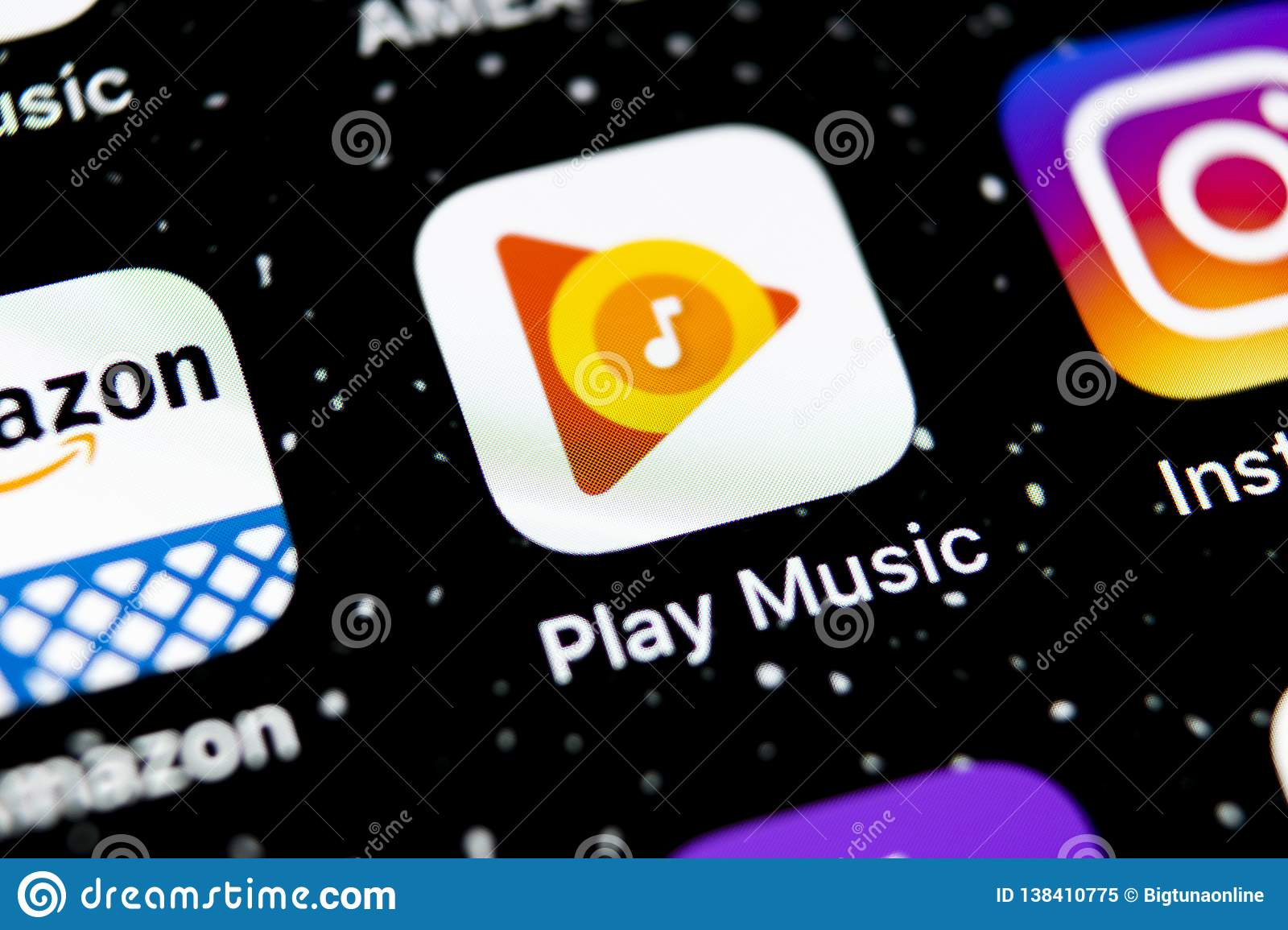 Google Play Music Application Icon On Apple IPhone X Screen