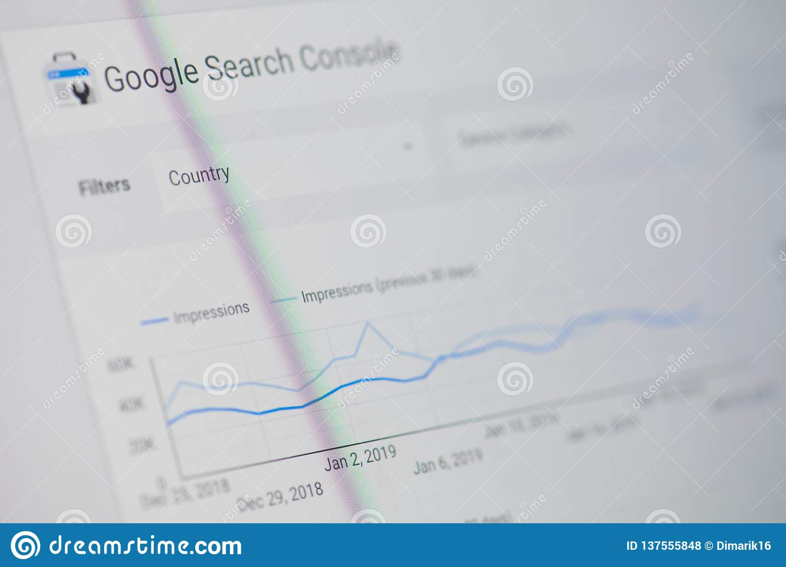 Google search console editorial stock photo  Image of graph