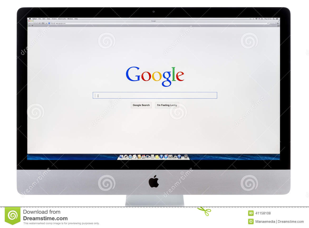Google Search Home Page Editorial Stock Photo