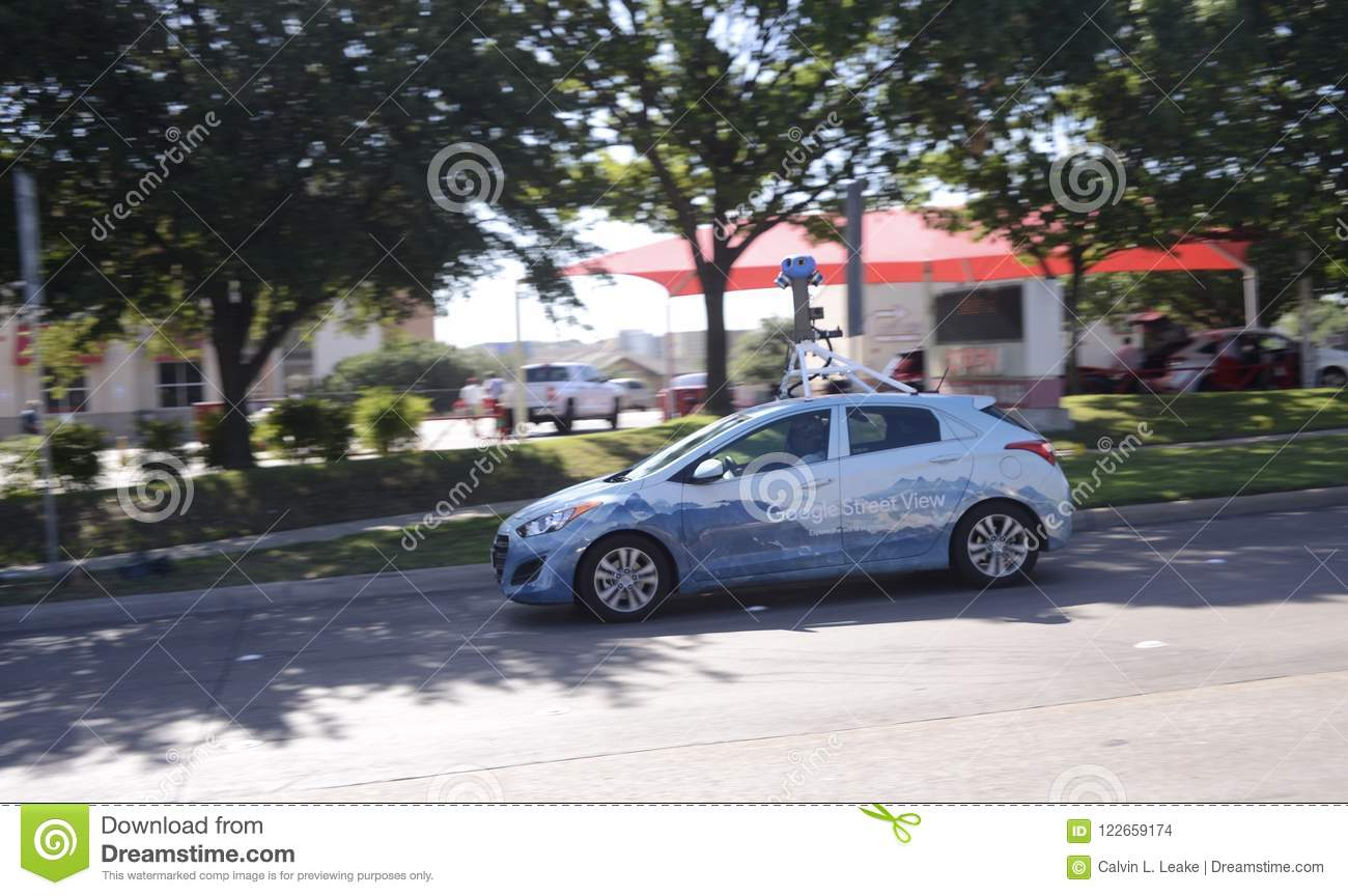 Google Street View Mapping And Photography Vehicle Editorial Stock