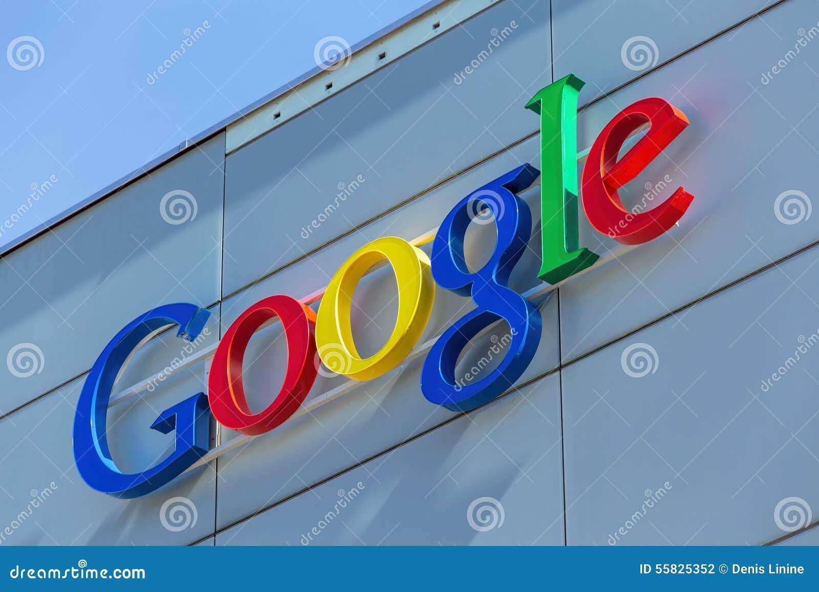 Google undertecknar på det Google kontoret som buillding