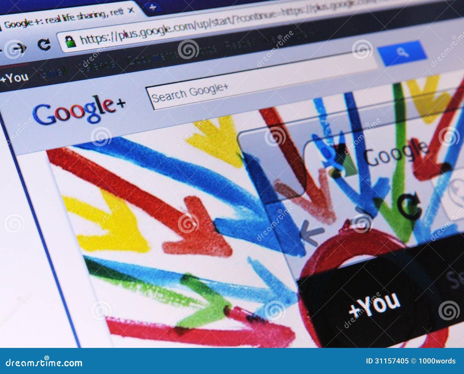 Google+ Webpage