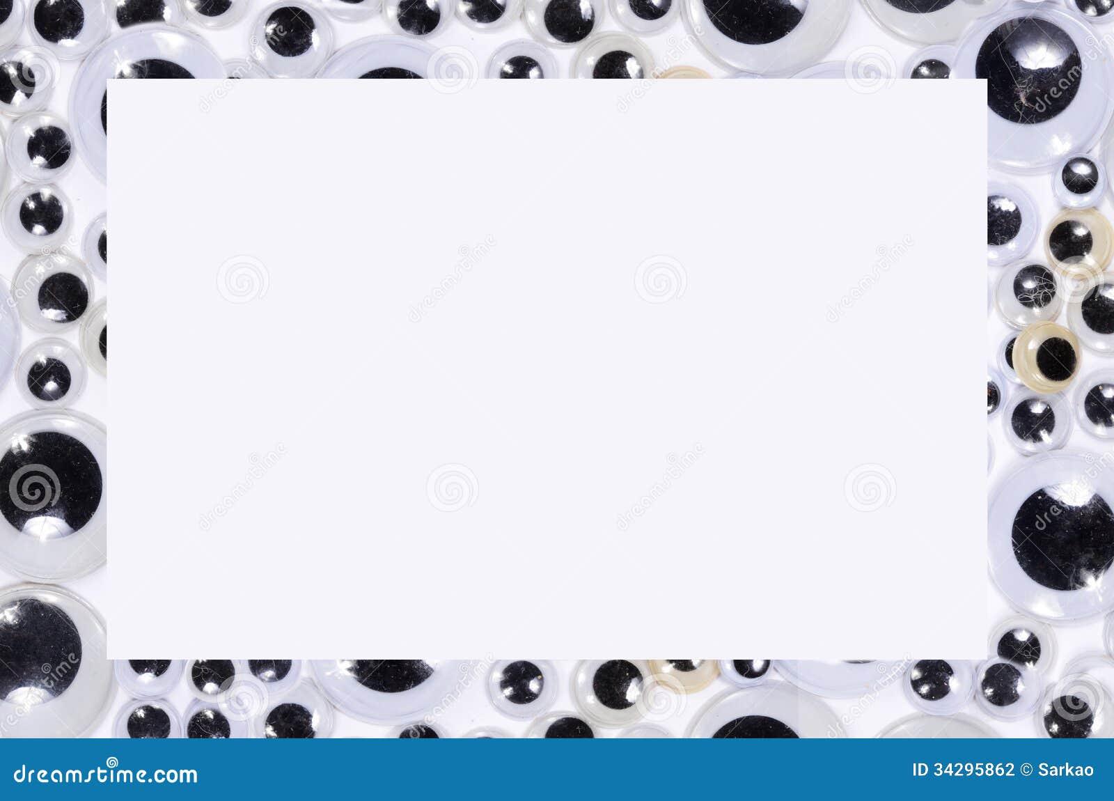 Googly eyes frame stock photo. Image of frame, craft - 34295862