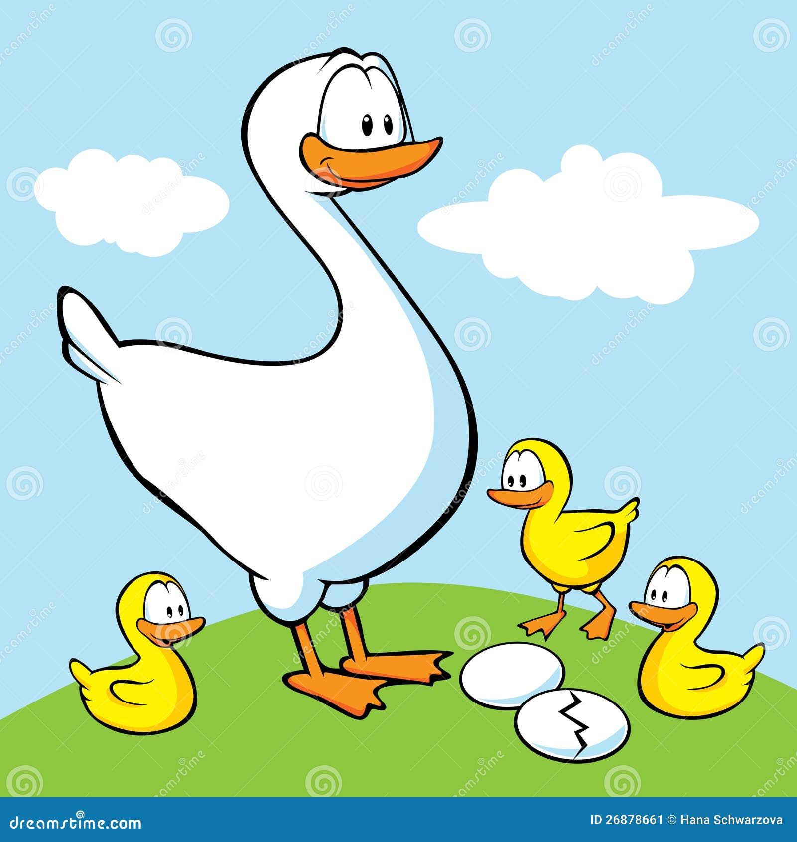 Cartoon baby goose