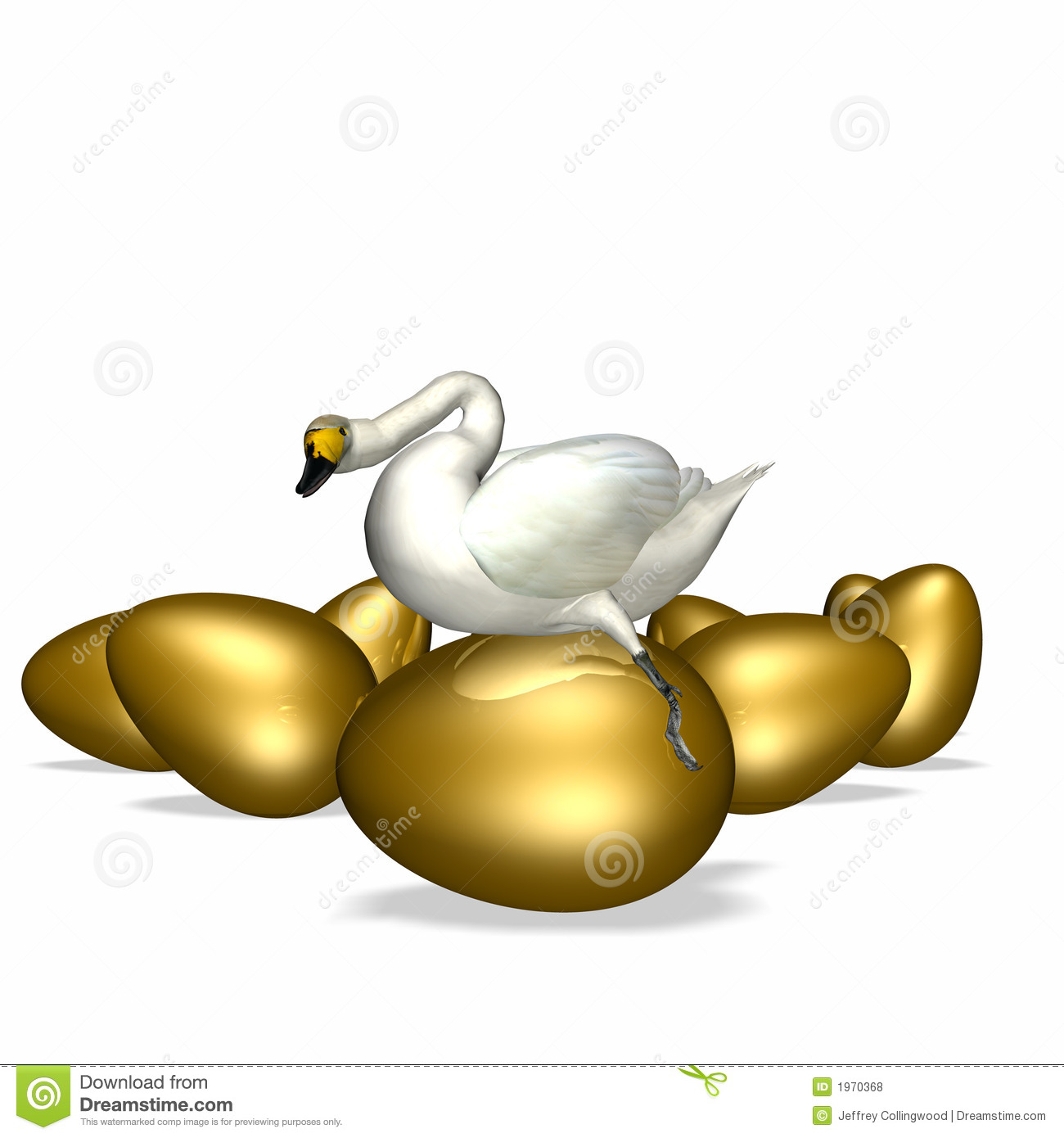 Goose Sitting On Golden Egg Royalty Free Stock Photos ... Golden Goose Eggs
