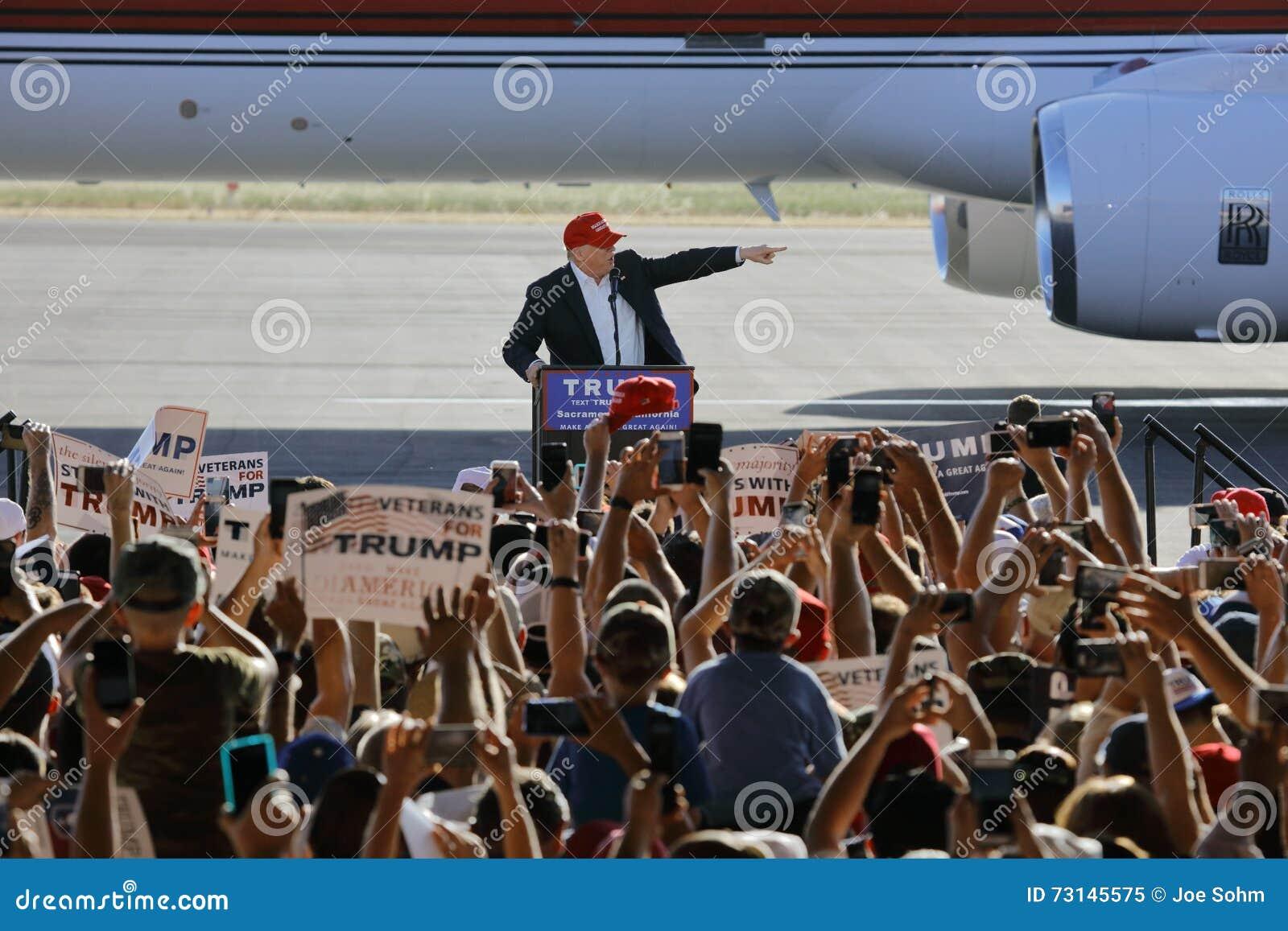 GOP Presidential Candidate Donald Trump Campaigns In Sacramento, California