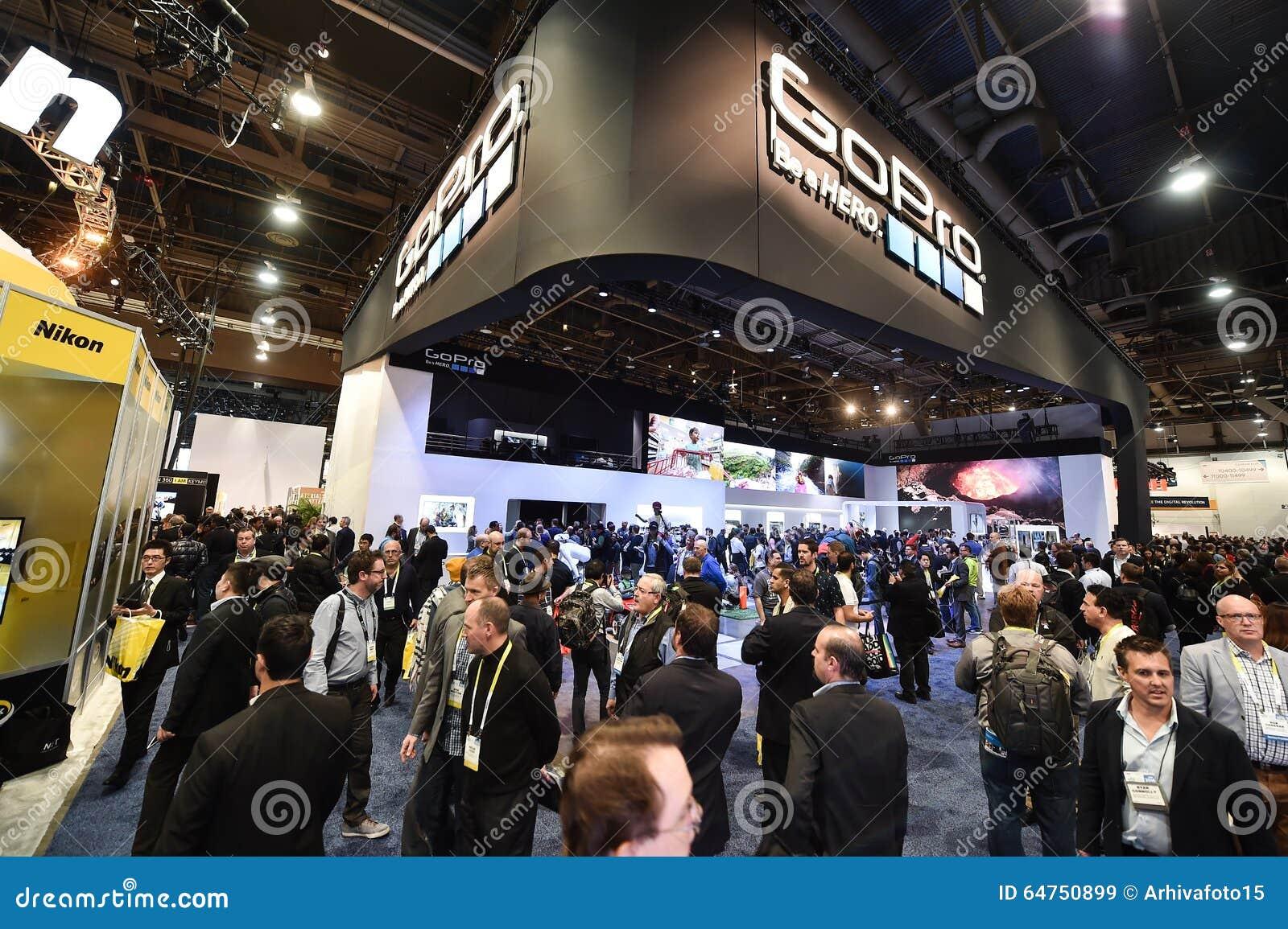 gopro at ces 2016 editorial stock image image 64750899. Black Bedroom Furniture Sets. Home Design Ideas