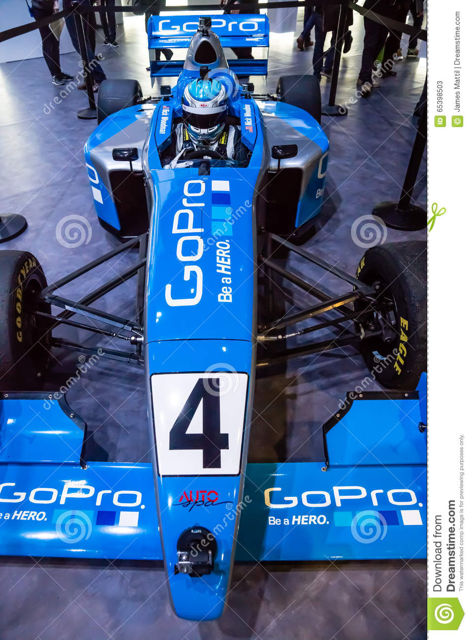 GoPro Race Car at CES editorial stock photo  Image of futuristic