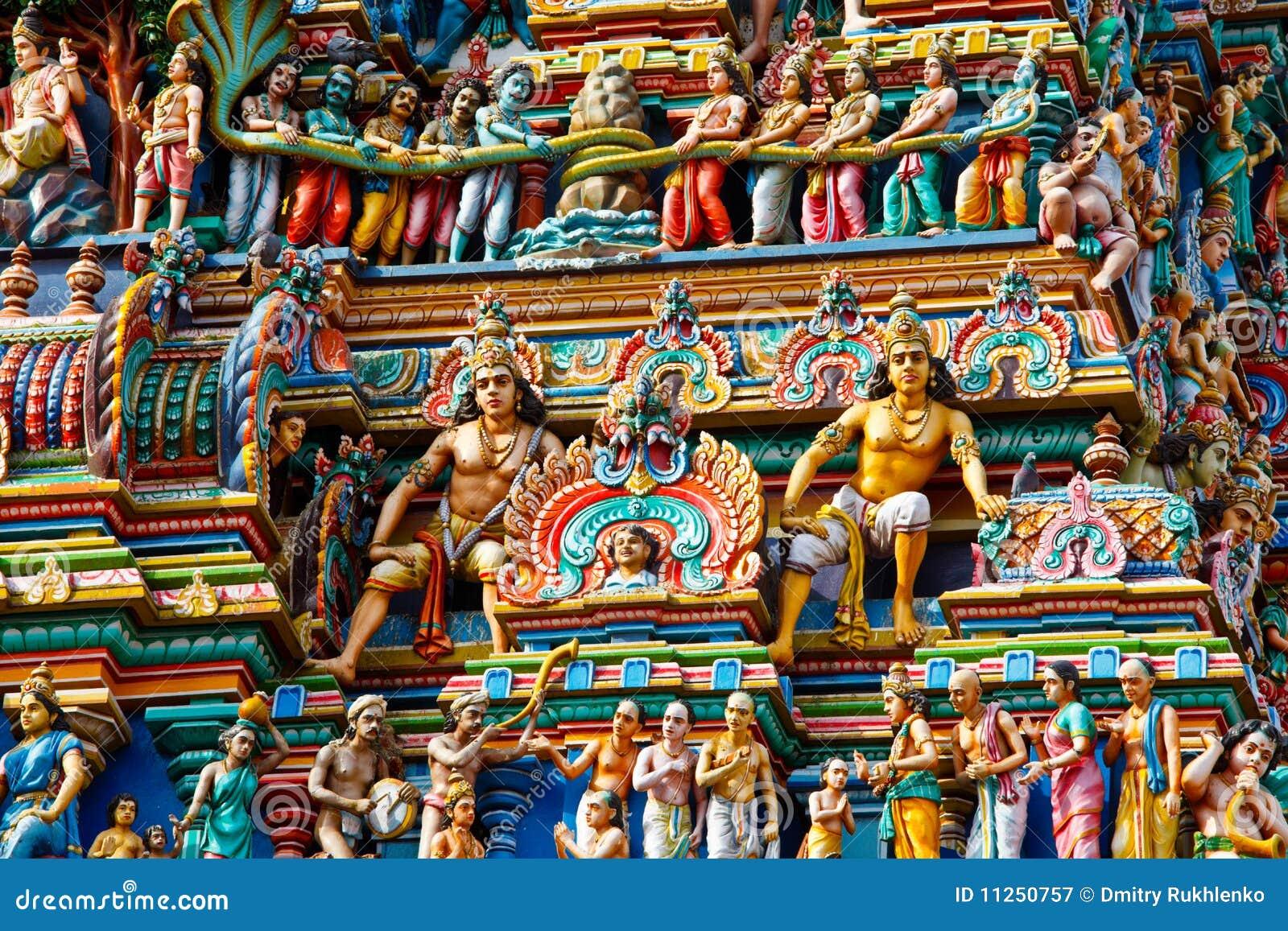 Gopuram印度寺庙塔
