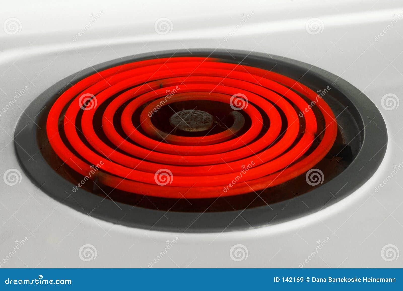 Gorąca palnika czerwony