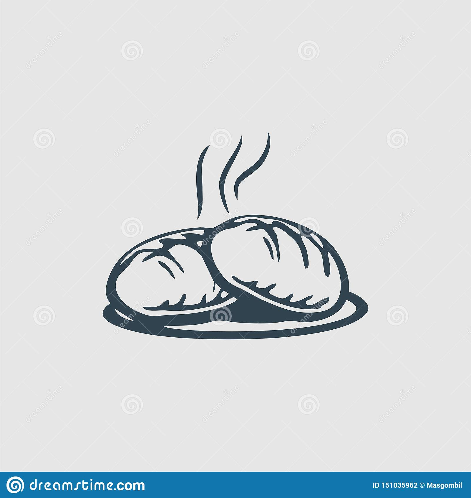 Gorąca piekarnia monograma projekta logo inspiracja