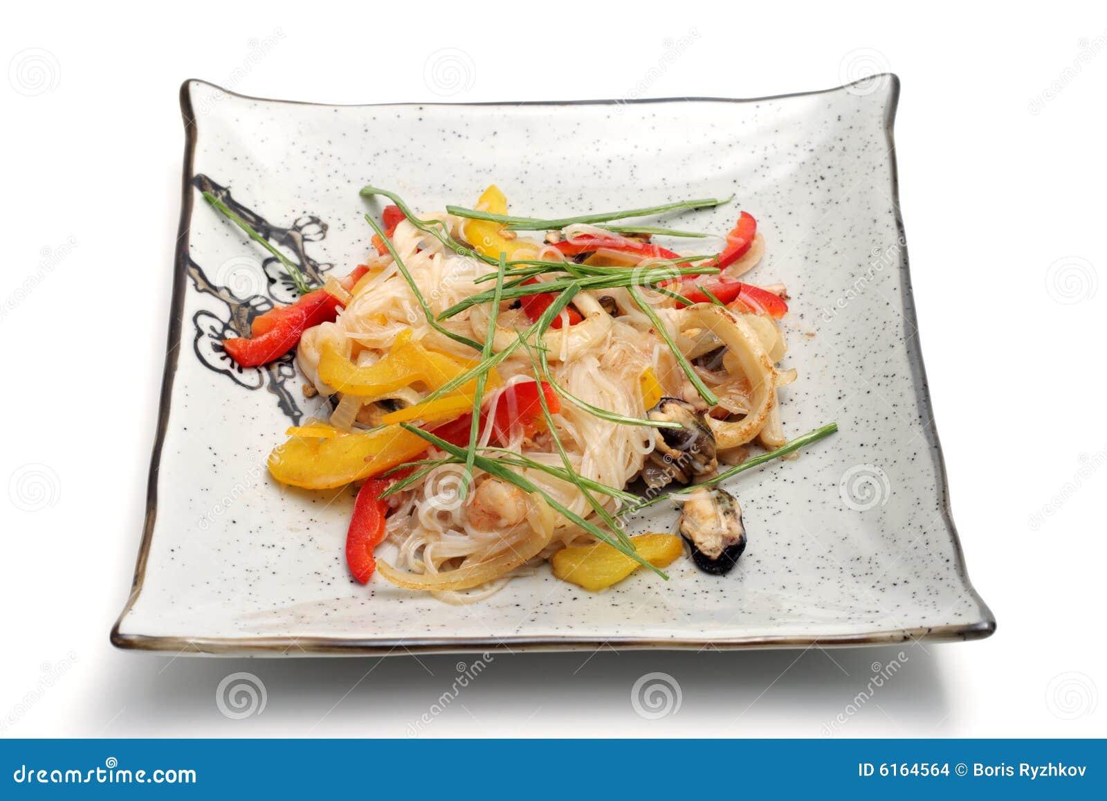 Gorące jedzenie Japan płytki