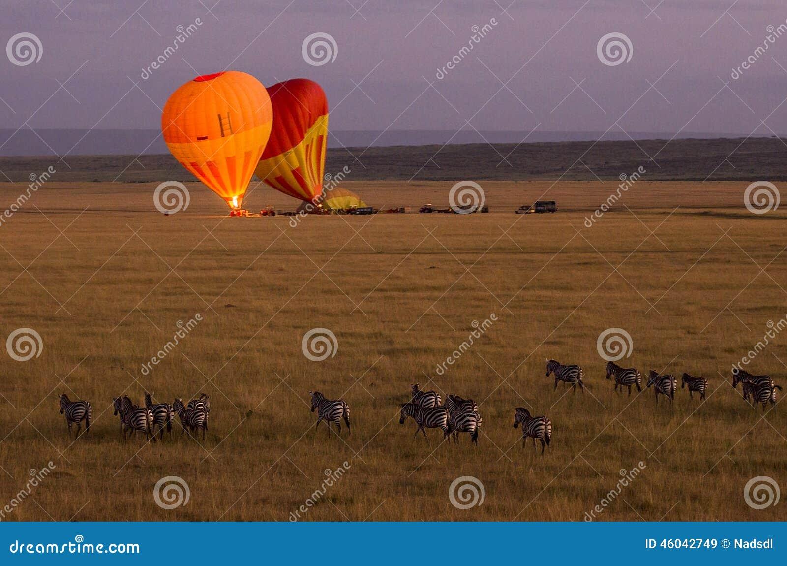 Gorące powietrze balon w Maasai Mara