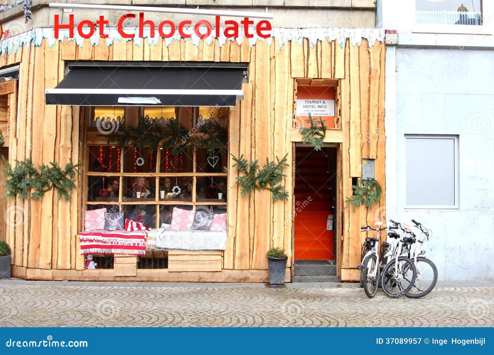 Download Gorącej Czekolady Kawiarnia Przy Tamą W Centrum Miasta Amsterdam Fotografia Editorial - Obraz złożonej z napoje, australijczycy: 37089957