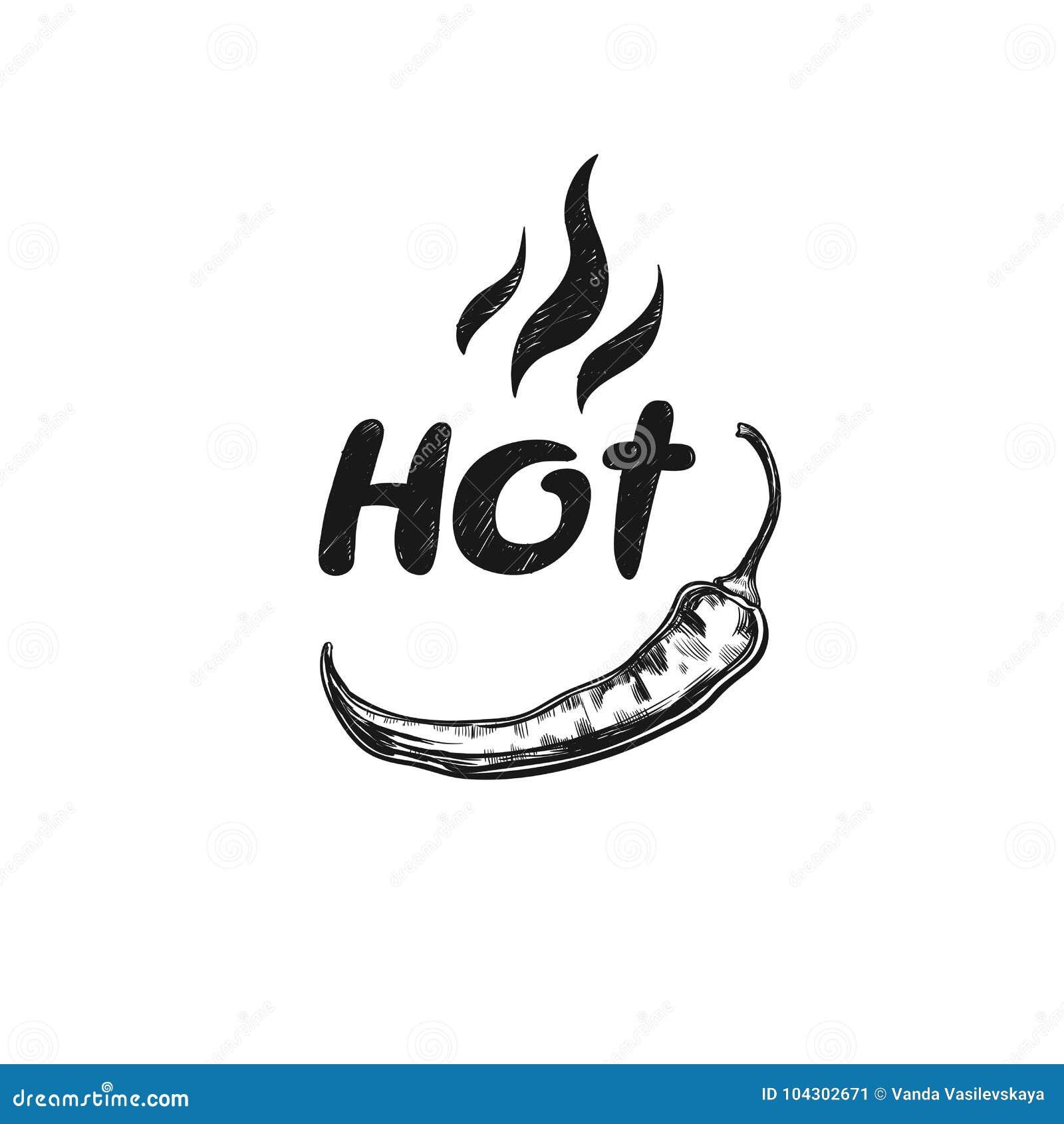 Gorący Korzenna ikona z chili