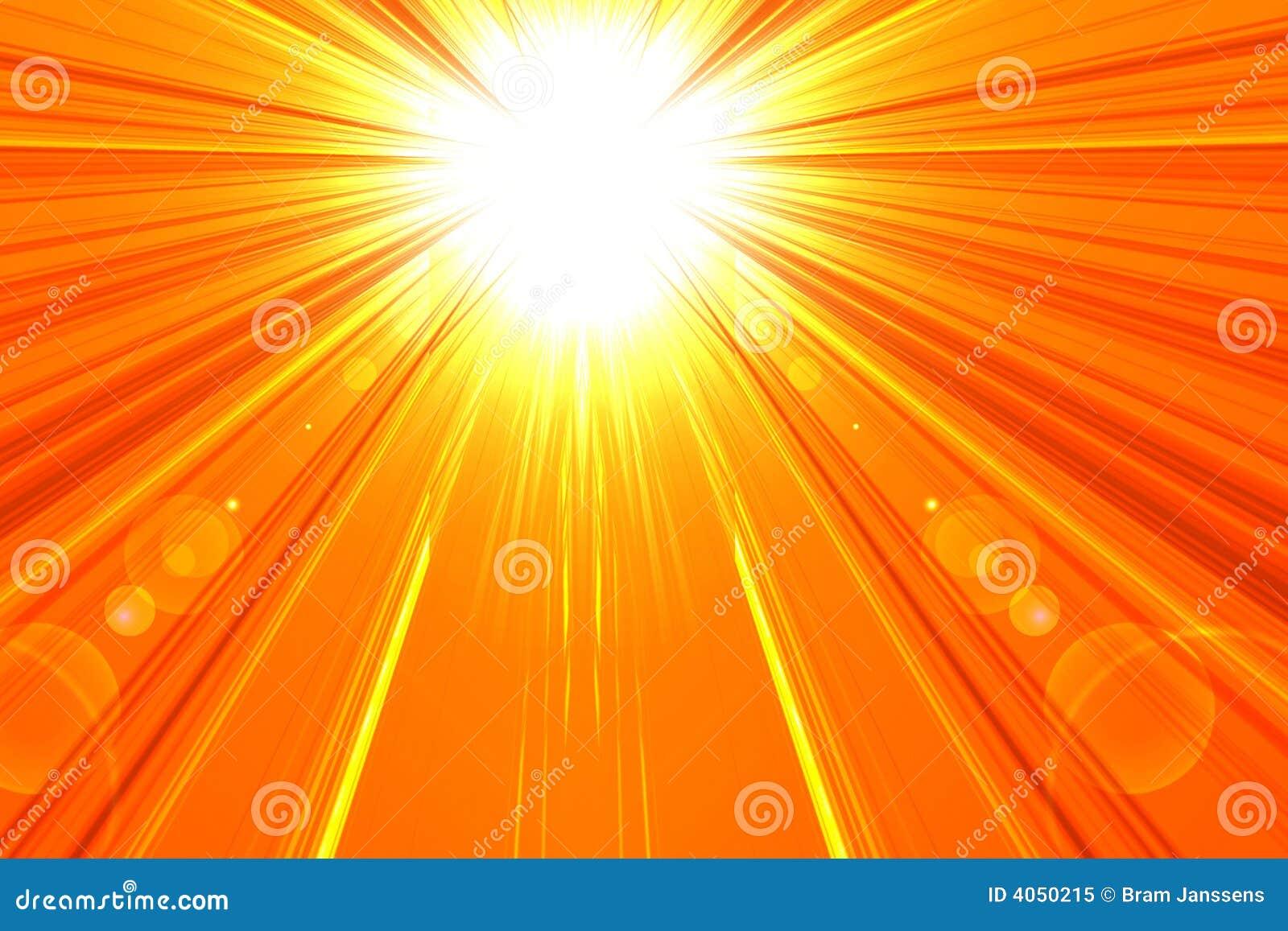 Gorący lata słońce