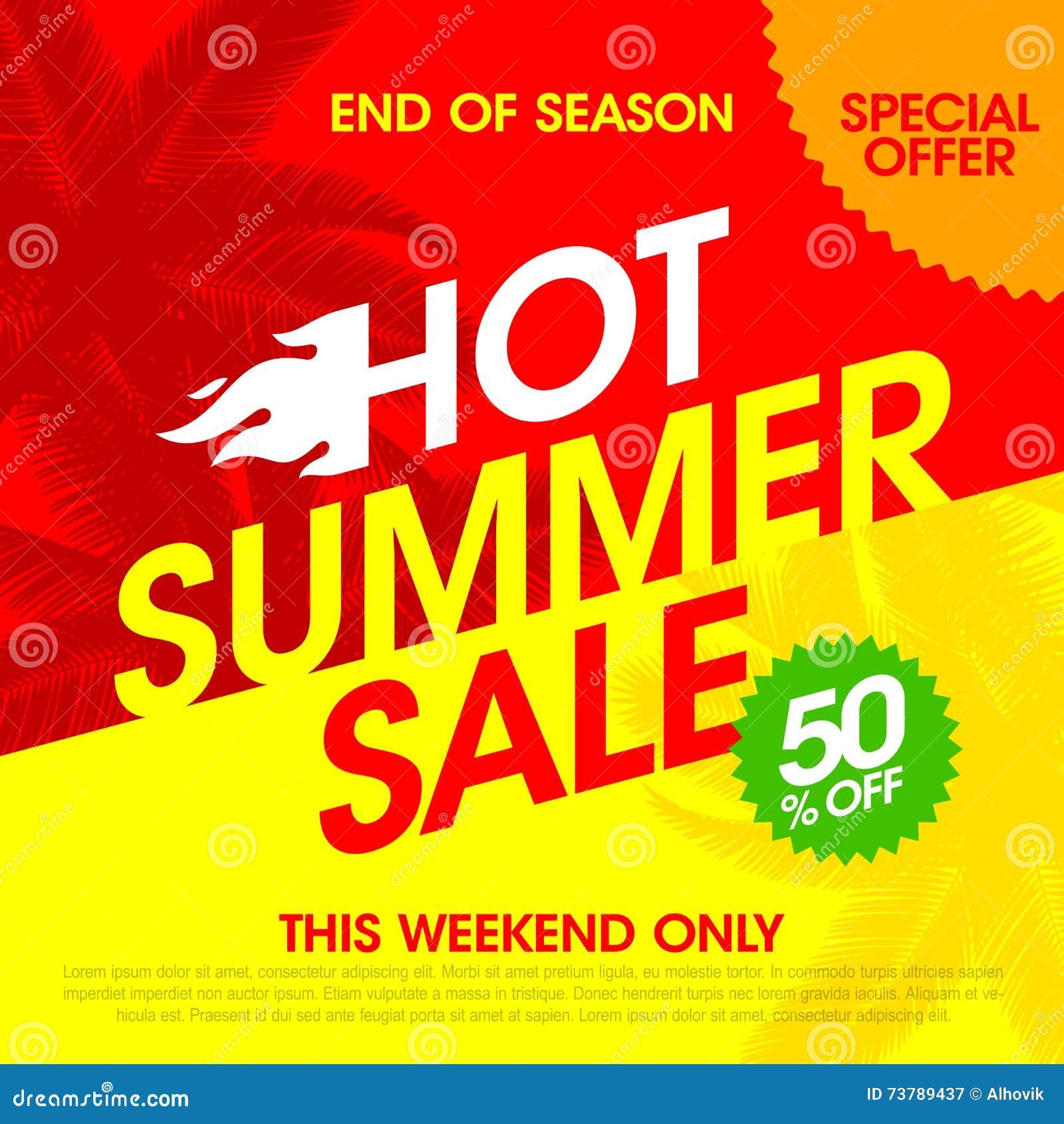Gorący lato sprzedaży sztandar