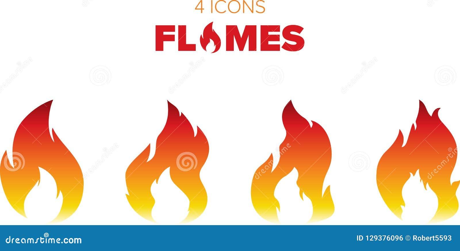 Gorący płomienie i ogień