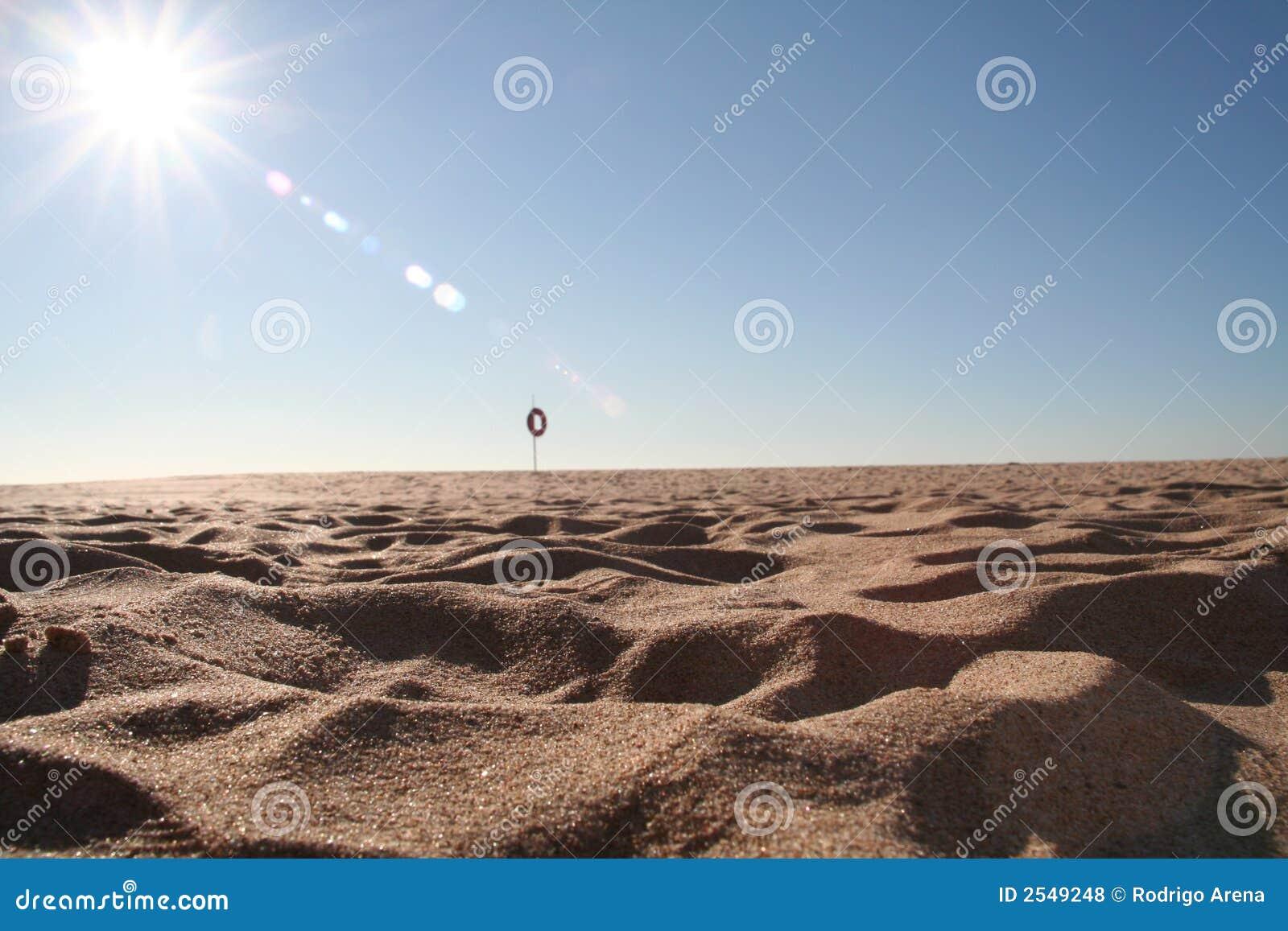Gorący piasek na plaży