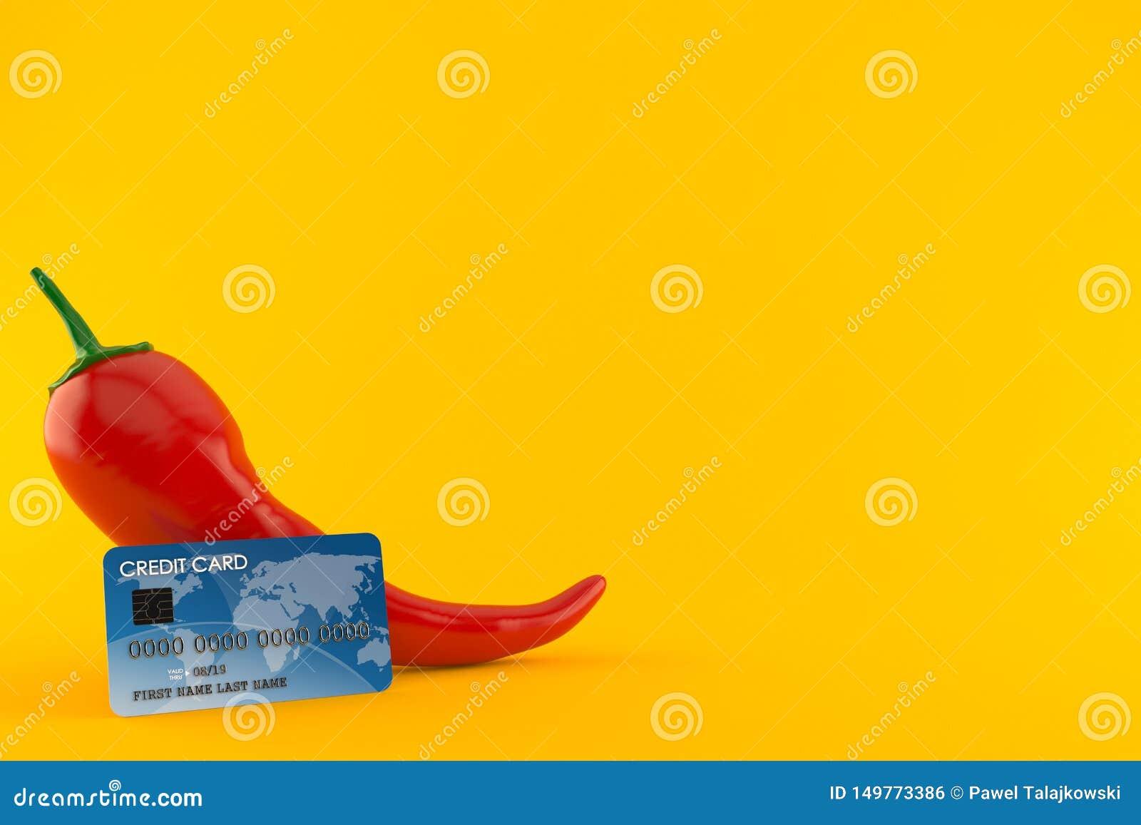 Gorący pieprz z kartą kredytową